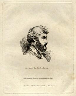 John Lewis Burckhardt, by Angelica Clarke, published by  John Samuel Murray, after  Joseph Slater - NPG D1140
