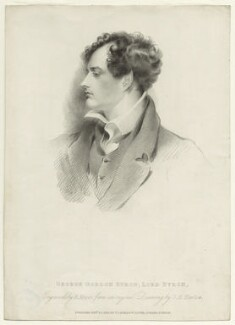 George Gordon Byron, 6th Baron Byron, by Henry Meyer, published by  T. Cadell & W. Davies, after  George Henry Harlow - NPG D1158