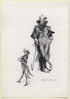 Sir Henry Irving as Robert Macaire in 'Victorine', by Harry Furniss - NPG D116