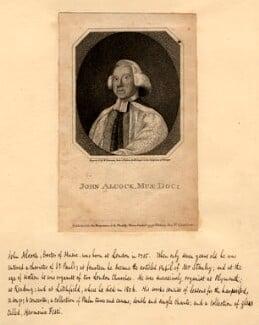 John Alcock, by W. Newman, after  Robert Cooper, 1797 - NPG D1162 - © National Portrait Gallery, London