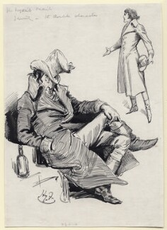 Sir Henry Irving as Dubosc in 'The Lyons Mail', by Harry Furniss - NPG D117