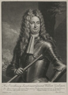 William Cadogan, 1st Earl Cadogan, by John Simon, after  Louis Laguerre - NPG D1191