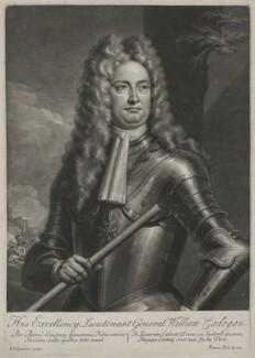 William Cadogan, 1st Earl Cadogan, by John Simon, after  Louis Laguerre - NPG D1191