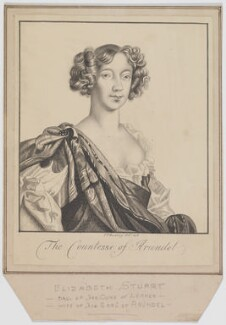 Elizabeth (Stuart), Countess of Arundel, by George Perfect Harding - NPG D12