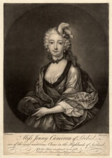 Jenny Cameron, by Johnson, after  Le Clerc (Clare) - NPG D1202