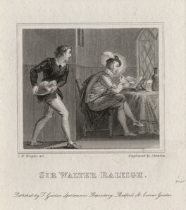 Sir Walter Ralegh (Raleigh) (Raleigh), by Henry Chawnes Shenton, published by  T. Gosden, after  John Massey Wright - NPG D1209