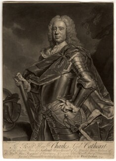 Charles Cathcart, 8th Baron Cathcart, by John Faber Jr, after  Allan Ramsay - NPG D1220