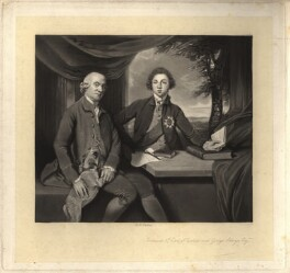 Frederick Howard, 5th Earl of Carlisle; George Augustus Selwyn, by Robert Bowyer Parkes, after  Sir Joshua Reynolds, (1770) - NPG D1229 - © National Portrait Gallery, London