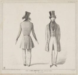 'What, in Parliamentary phrase, may be termed a pair', by John ('HB') Doyle, printed by  Alfred Ducôte, published by  Thomas McLean - NPG D1239