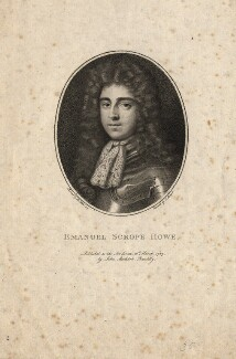 Emanuel Scrope Howe, by Charles Sherwin, after  Sir Peter Lely - NPG D1251