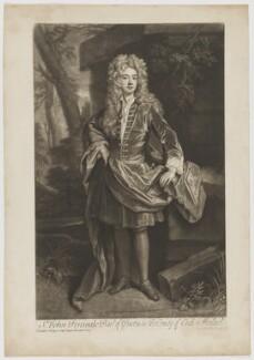 John Perceval, 1st Earl of Egmont, by John Smith, after  Sir Godfrey Kneller, Bt - NPG D1257