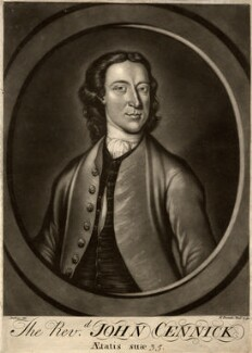 John Cennick, by Robert Purcell, after  Thomas Jenkins - NPG D1271