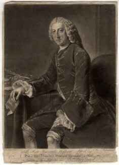 William Pitt, 1st Earl of Chatham, by Richard Houston, after  William Hoare - NPG D1278