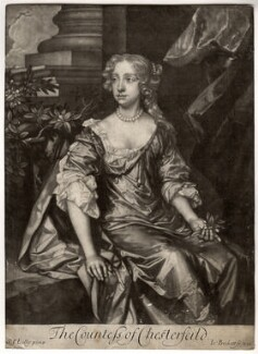 Elizabeth Stanhope (née Butler), Countess of Chesterfield, by Isaac Beckett, after  Sir Peter Lely - NPG D1284