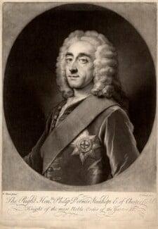 Philip Dormer Stanhope, 4th Earl of Chesterfield, by John Simon, after  William Hoare - NPG D1285