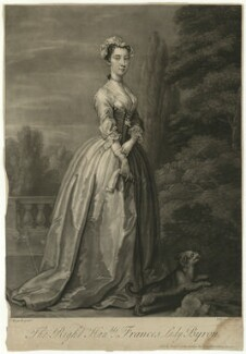 Frances Byron (née Berkeley), Lady Byron, by John Faber Jr, after  William Hogarth - NPG D1293