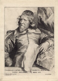 Inigo Jones, by Robert van Voerst, after  Sir Anthony van Dyck - NPG D1312