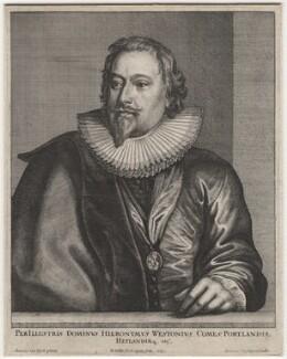 Richard Weston, 1st Earl of Portland, by Wenceslaus Hollar, after  Sir Anthony van Dyck - NPG D1314