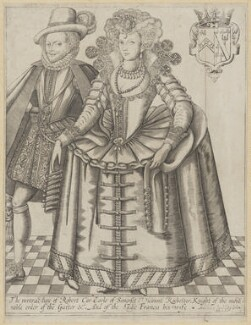 Robert Carr, Earl of Somerset; Frances, Countess of Somerset, attributed to Renold or Reginold Elstrack (Elstracke), sold by  John Hinde, circa 1615 - NPG D1316 - © National Portrait Gallery, London