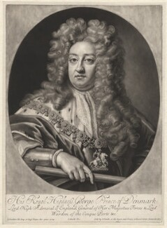 Prince George of Denmark, Duke of Cumberland, by John Smith, after  Sir Godfrey Kneller, Bt, (1704) - NPG D1334 - © National Portrait Gallery, London