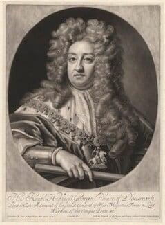 Prince George of Denmark, Duke of Cumberland, by John Smith, after  Sir Godfrey Kneller, Bt, (1704) - NPG D1334 - © National Portrait Gallery, London
