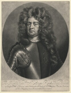 Sir George Rooke, by Robert Williams, after  Michael Dahl - NPG D1337
