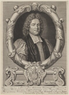 John Tillotson, by Robert White, published by  Brabazon Aylmer, published by  William Rogers, after  Mary Beale - NPG D1341