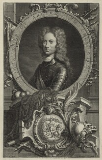 John Campbell, 2nd Duke of Argyll and Greenwich, by Jacobus Houbraken, after  William Aikman - NPG D1343