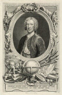 George Anson, 1st Baron Anson, by Charles Grignion, published by and after  Arthur Pond - NPG D1358