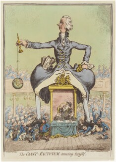 'The giant factotem amusing himself', by James Gillray, published by  Hannah Humphrey - NPG D12593