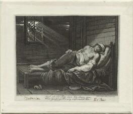 'The Death of Chatterton' (Thomas Chatterton), by Francesco Bartolozzi, after  Raphael Lamar West - NPG D1372