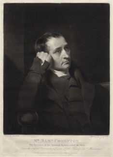 Samuel Crompton, by Samuel William Reynolds, published by  Agnew & Zanetti, after  Charles Allingham, published March 1828 - NPG D1375 - © National Portrait Gallery, London