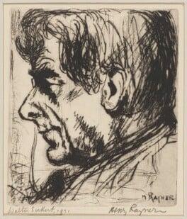 Walter Sickert, by (Hewitt) Henry Rayner - NPG D1398