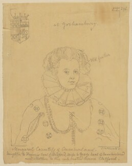 Margaret, Countess of Cumberland, after an engraving by James Caldwall - NPG D14