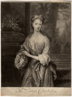 Sarah Plowden (née Chicheley), by and published by John Smith, after  Sir Godfrey Kneller, Bt, 1701 - NPG D1408 - © National Portrait Gallery, London