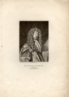 Sir John Chicheley (inscribed 'Sir Richard Chicheley'), by Robert Dunkarton, after  Sir Peter Lely - NPG D1439