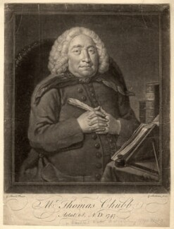 Thomas Chubb, by Gerhard Bockman, after  George Beare - NPG D1444
