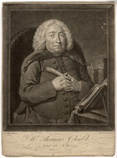 Thomas Chubb, by Gerhard Bockman, after  George Beare - NPG D1445