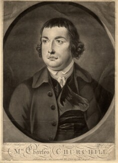 Charles Churchill, by Thomas Burford, after  J.S.C. Schaak, published 28 February 1765 - NPG D1446 - © National Portrait Gallery, London