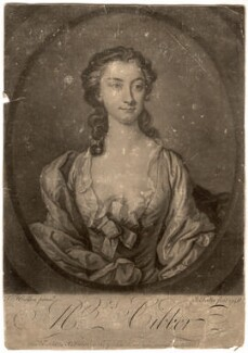 Susannah Maria Cibber (née Arne), by John Faber Jr, after  Thomas Hudson - NPG D1449