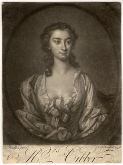 Susannah Maria Cibber (née Arne), by John Faber Jr, after  Thomas Hudson - NPG D1450