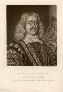 Edward Hyde, 1st Earl of Clarendon, by Robert Dunkarton, after  David Loggan - NPG D1455