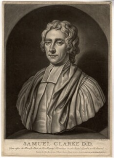Samuel Clarke, by John Faber Jr, after  Unknown artist - NPG D1461