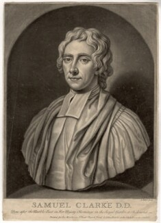 Samuel Clarke, by John Faber Jr, after  Unknown artist - NPG D1462
