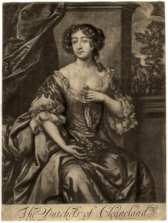 Barbara Palmer (née Villiers), Duchess of Cleveland, published by Richard Tompson, after  Sir Peter Lely, 1678-1679 - NPG D1471 - © National Portrait Gallery, London