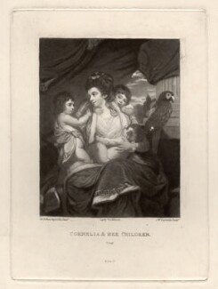 Cornelia and her Children, by Samuel William Reynolds, after  Sir Joshua Reynolds - NPG D1483
