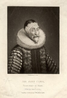 Sir John Coke, by Robert Dunkarton, after  Unknown artist - NPG D1493