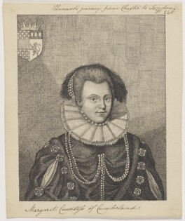 Margaret, Countess of Cumberland, after an engraving by James Caldwall - NPG D15