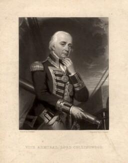 Cuthbert Collingwood, Baron Collingwood, by Samuel Cousins, after  Frank Howard - NPG D1507