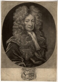 Sir Robert Cotton, 1st Bt, by John Smith, after  Thomas Gibson, 1706 - NPG D1528 - © National Portrait Gallery, London